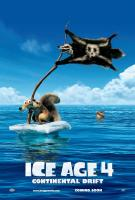 ICE AGE: CONTINENTAL DRIFT, (aka ICE AGE 4: CONTINENTAL DRIFT), left: Scrat (voice: Chris Wedge) on advance international poster art, 2012, TM and Copyright ©20th Century Fox Film Corp. All rights reserved.