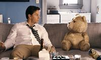 TED, from left: Mark Wahlberg, Ted (voice: Seth MacFarlane), 2012./ph: Claire Folger/©Universal Pictures