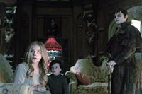 DARK SHADOWS, from left: Chloe Grace Moretz, Gully McGrath, Johnny Depp, 2012. ph: Peter Mountain/©Warner Bros.