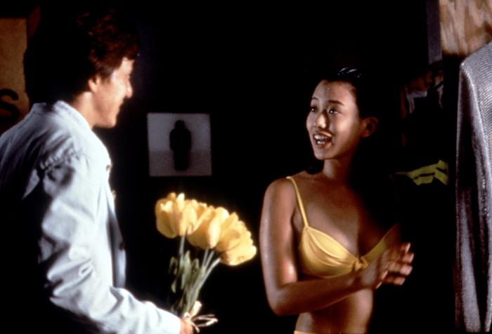 Jackie Chan and Annie Wu in Police Story 4