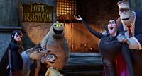 HOTEL TRANSYLVANIA, l-r: Mavis (voice: Selena Gomez), Griffin the Invisible Man (voice: David Spade), Wayne (voice: Steve Buscemi), Wanda (voice: Molly Shannon), Murray the Mummy (Cee-Lo Green), Dracula (Adam Sandler), Frank (Kevin James), 2012, ©Sony Pict
