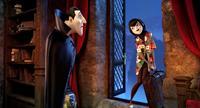 HOTEL TRANSYLVANIA, from left: Dracula (voice: Adam Sandler), Mavis (voice: Selena Gomez), 2012. ©Sony Pictures
