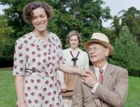 HYDE PARK ON HUDSON, from left: Olivia Williams, as Eleanor Roosevelt, Laura Linney, Bill Murray, as Franklin D. Roosevelt, 2012. ph: Nicola Dove/©Focus Features