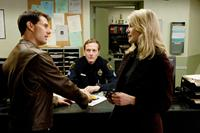 JACK REACHER, from left: Tom Cruise, Lee Child (author of the source novel), Rosamund Pike, 2012. ph: Karen Ballard/©Paramount Pictures