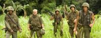 "Robert Downey Jr., Jack Black, Brandon T. Jackson, Jay Baruchel and Ben Stiller in ""Tropic Thunder"""