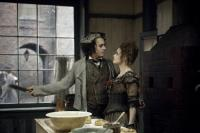 "Johnny Depp and Helena Bonham Carter in ""Sweeney Todd: The Demon Barber of Fleet Street"""