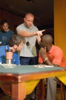 "Gerard Butler, Guy Ritchie and Idris Elba on the set of ""RocknRolla"""