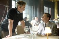 "Sam Mendes and Leonardo DiCaprio on the set of ""Revolutionary Road"""