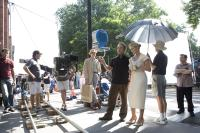 "Sam Mendes and Kate Winslet on the set of ""Revolutionary Road"""