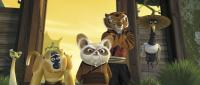 "Master Viper (Lucy Liu), Mantis (Seth Rogen), Master Monkey (Jackie Chan), Shifu (Dustin Hoffman),  Tigress (Angelina Jolie) and Crane (David Cross) in ""Kung Fu Panda"""