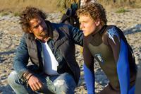 CHASING MAVERICKS, from left: Gerard Butler, Jonny Weston, 2012. ph: John P. Johnson/TM and ©Twentieth Century Fox Films. All rights reserved.