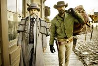 DJANGO UNCHAINED, from left: Christoph Waltz, Jamie Foxx, 2012. ph: Andrew Cooper/©Weinstein Company