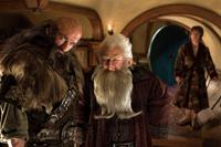 THE HOBBIT: AN UNEXPECTED JOURNEY, l-r: Graham McTavish, Ken Stott, Martin Freeman, 2012, ph: James Fisher/©Warner Bros. Pictures