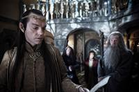THE HOBBIT: AN UNEXPECTED JOURNEY, l-r: Hugo Weaving, Richard Armitage, Martin Freeman, Ian McKellen, 2012, ph: James Fisher/©Warner Bros. Pictures