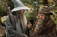 THE HOBBIT: AN UNEXPECTED JOURNEY, from left: Ian McKellen, Sylvester McCoy, 2012. ph: Mark Pokorny/©Warner Bros. Pictures