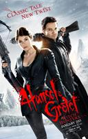 HANSEL AND GRETEL WITCH HUNTERS, US advance poster art, from left: Gemma Arterton, Jeremy Renner, 2013. ©Paramount Pictures