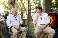 THE GUILT TRIP, from left: producers Lorne Michaels, John Goldwyn, on set, 2012. ph: Sam Emerson/©Paramount Pictures