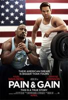 PAIN & GAIN, l-r: Dwayne Johnson, Mark Wahlberg on US advance poster art, 2013, ©Paramount