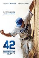 42, (aka FORTY-TWO), US advance poster art, Chadwick Boseman as Jackie Robinson, 2013./©Warner Bros. Pictures