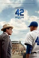 42, (aka FORTY-TWO), US advance poster art, from left: Harrison Ford, Chadwick Boseman as Jackie Robinson, 2013. ©Warner Bros. Pictures