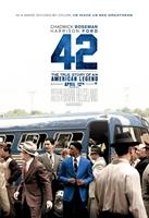 42, (aka FORTY-TWO), US advance poster art, Chadwick Boseman as Jackie Robinson (blue jacket), 2013. ©Warner Bros. Pictures
