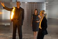NOW YOU SEE ME, from left: Morgan Freeman, Jessica Lindsey, Melanie Laurent, 2013. ph: Barry Wetcher/©Summit Entertainment