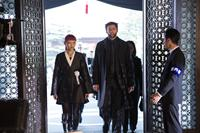 THE WOLVERINE, center from left: Rila Fukushima, Hugh Jackman, 2013. ph: James Fisher/TM & copyright ©20th Century Fox Film Corp. All rights reserved