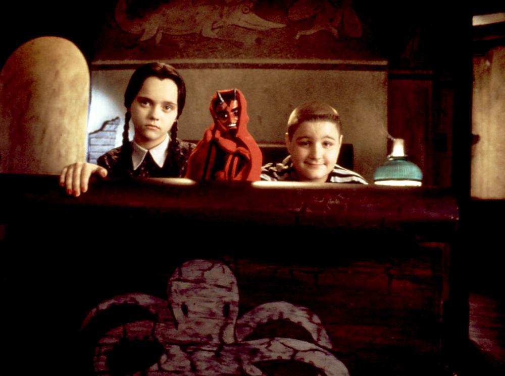 ADDAMS FAMILY VALUES, Christina Ricci, Jimmy Workman, 1993, puppet