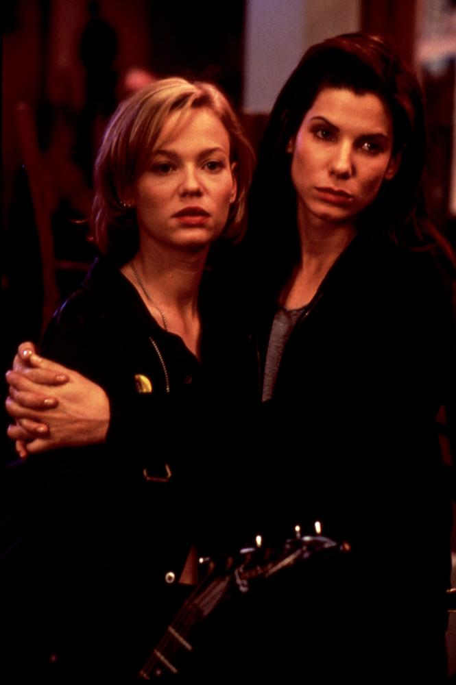 """Photo of Sandra Bullock & her friend actress  Samantha Mathis - Movie """"The Thing Called Love"""""""