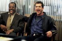 LETHAL WEAPON 4, Danny Glover, Mel Gibson, 1998, laughing