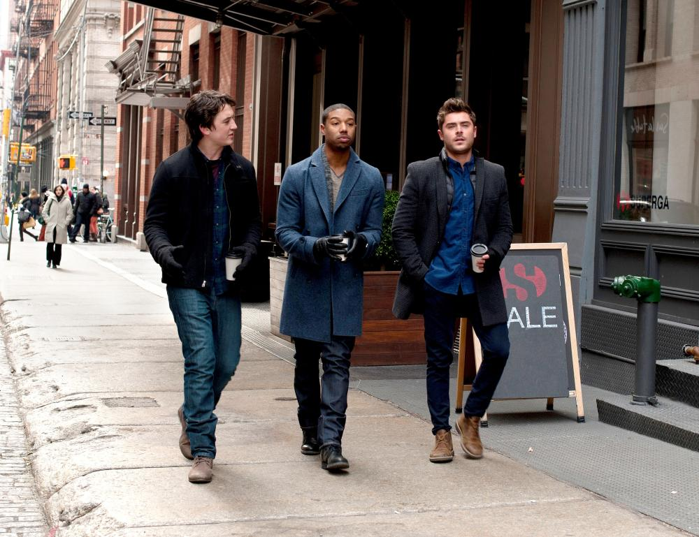 THAT AWKWARD MOMENT, from left: Miles Teller, Michael B. Jordan, Zac Efron, 2014. ph: Nicole Rivelli//©Focus Features