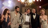 AMERICAN HUSTLE, from left: Amy Adams, Bradley Cooper, Jeremy Renner, Christian Bale, Jennifer Lawrence, 2013. ph: Francois Duhamel/©Columbia Pictures