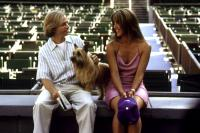 LOST AND FOUND, David Spade, Sophie Marceau, 1999, sitting in an empty stadium,  LOST & FOUND