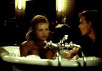 THE ASTRONAUT'S WIFE, Charlize Theron, Johnny Depp, 1999, bathtub