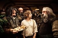 THE HOBBIT: AN UNEXPECTED JOURNEY, from left: William Kircher, Graham McTavish, Martin Freeman, James Nesbitt, John Callen, 2012. ph: James Fisher/©Warner Bros. Pictures