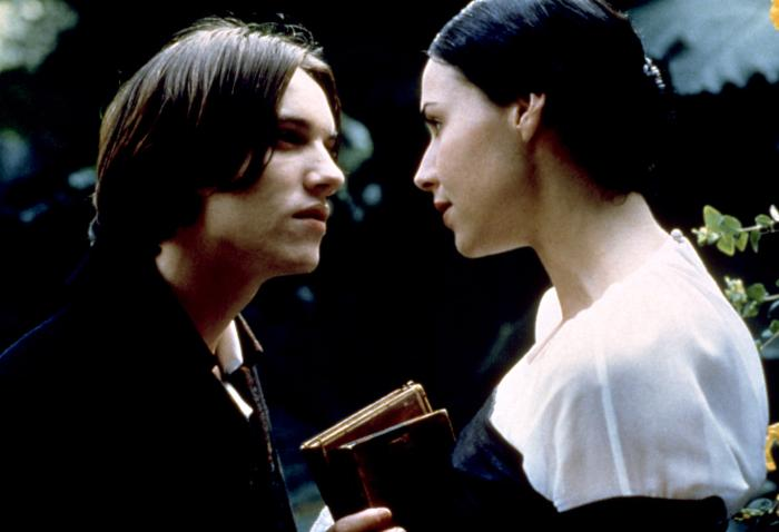 THE GOVERNESS, Jonathan Rhys-Meyers, Minnie Driver, 1998.
