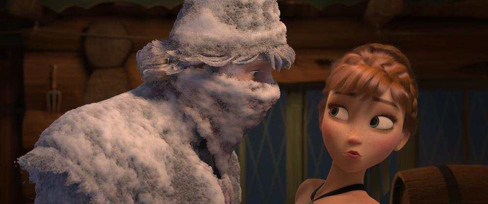 FROZEN, from left:   Kristoff (voice: Jonathan Groff), Anna (voice: Kristen Bell), 2013. ©Walt Disney Pictures