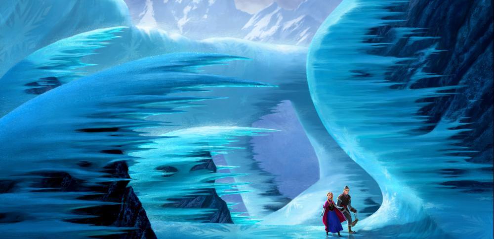 FROZEN, from left:   Anna (voice: Kristen Bell), Kristoff (voice: Jonathan Groff), 2013. ©Walt Disney Pictures