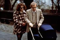 MIGHTY APHRODITE, Helena Bonham Carter, Woody Allen, 1995, wheeling baby carriage in Central Park