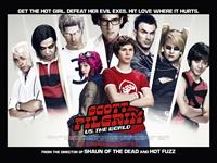 SCOTT PILGRIM VS. THE WORLD, poster art, back, from left: Shota Saito, Satya Bhabha, Brandon Routh, Jason Schwartzman, Chris Evans, Mae Whitman, Keita Saito, front, from left: Mary Elizabeth Winstead, Michael Cera, 2010. ©Universal