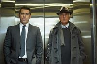 THE ART OF THE STEAL, from left: Jason Jones, Terence Stamp, 2013. ©RADiUS-TWC
