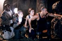 PITCH BLACK, Keith David, Rhiana Griffith, Radha Mitchell, Vin Diesel, 2000, in a cave