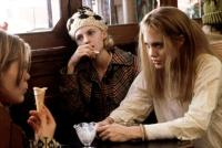GIRL INTERRUPTED, Clea Duvall, Angela Bettis, Angelina Jolie, 1999, eating at the diner