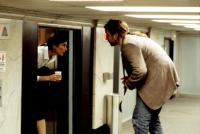 BEING JOHN MALKOVICH, Catherine Keener, John Cusack, 1999, in the elevator