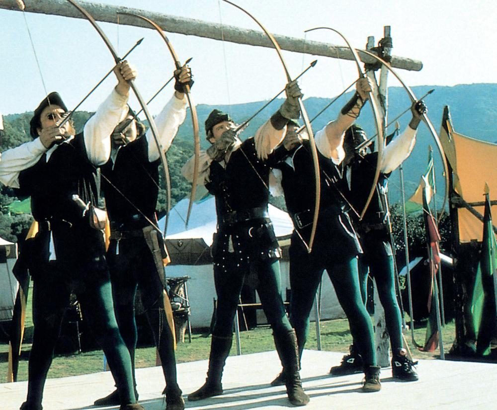ROBIN HOOD: MEN IN TIGHTS, Cary Elwes (third from left), 1993, TM & Copyright (c) 20th Century Fox Film Corp.
