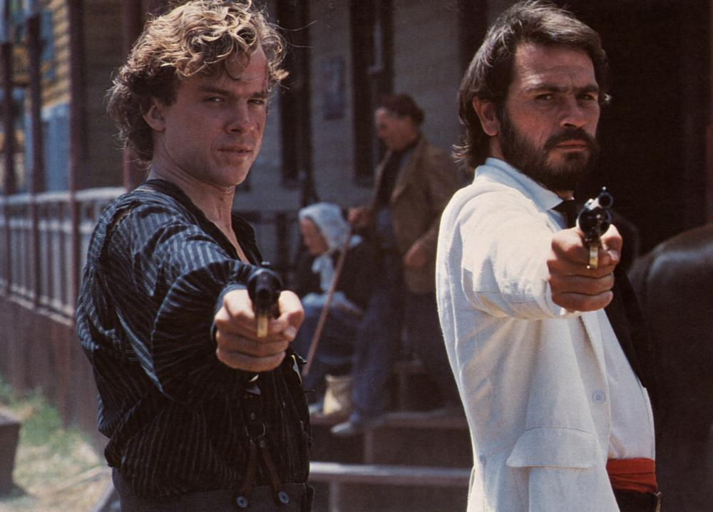 NATE AND HAYES, Michael O'Keefe, Tommy Lee Jones, 1983. (c) Paramount Pictures.