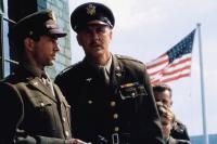 MEMPHIS BELLE, from left: David Strathaim, John Lithgow, 1990, © Warner Brothers