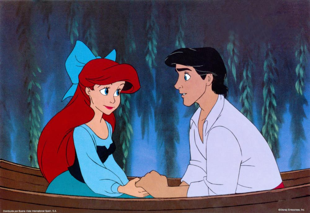 THE LITTLE MERMAID, from left: Ariel, Prince Eric, 1989, © Walt Disney