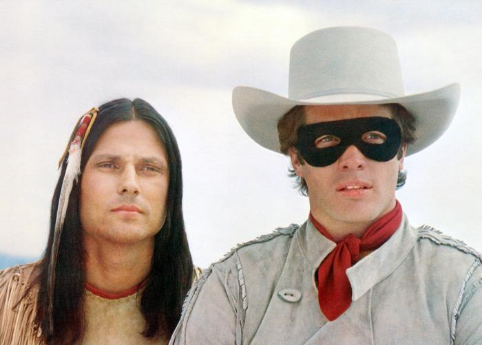 THE LEGEND OF THE LONE RANGER, from left: Michael Horse, Kointon Spilsbury, 1981. ©Universal Pictures