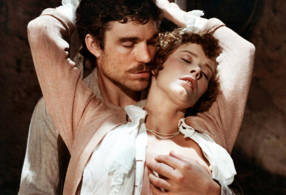 LADY CHATTERLEY'S LOVER, from left: Nicholas Clay, Sylvia Kristel, 1981. ©Cannon Films